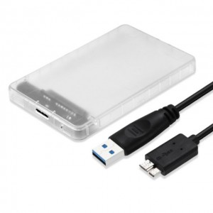 """2in1 HDD Housing USB 3.0 External 2.5"""" Hard Disk Drive Chassis"""