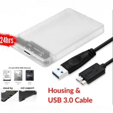 "2in1 HDD Housing USB 3.0 External 2.5"" Hard Disk Drive Chassis"