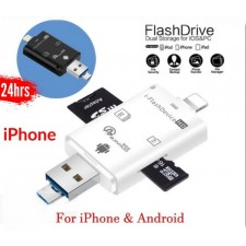 iPhone IOS Micro USB 3 In 1 Multifunctional OTG Card Reader iPhone Micro SD SD Card USB Reader