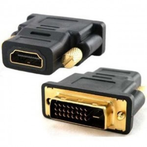Gold Plated DVI 24+1 Male to HDMI Female Converter Adapter DVI-D (Dual Link)