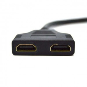 HDMI Splitter 1 Male To Dual HDMI 2 Female Y Adapter Cable Adapters Multi