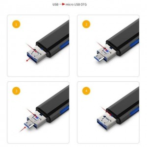 5 in 1 USB 3.0 Card Reader Type C / USB / Micro USB SD TF Memory OTG Adapter Android