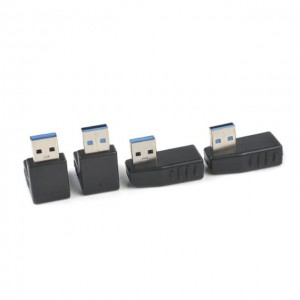 90 Degree Bend Angle USB 3.0 A male to female Adapter Connector Angle Extension Extender