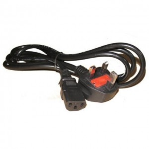 1.5M 3 Prong Power Cord Cable With 13A Fuse For Desktop PC Borong