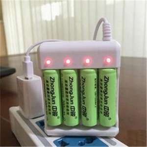 Usb Power Battery Charger Intelligent 4 Slots AA AAA Lithium Rechargeable Fast Smart Charge