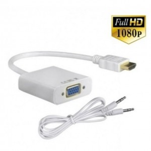1080P HDMI to VGA Cable Video Converter Adapter Aux Cable with / without Audio Support