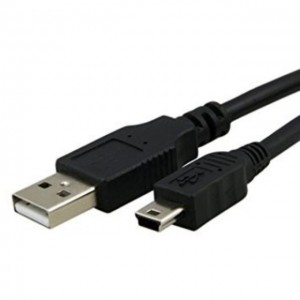USB CABLE MINI-B 5-Pin 80cm Dashcam Car Cam MP3 Players High Quality
