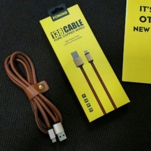 Foneng 138 Pure Copper Wires Leather Fast Charging 3.4A Data Cable