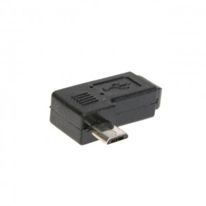 Micro USB Male to Mini USB Female Converter 90 Degree Sync Adapter