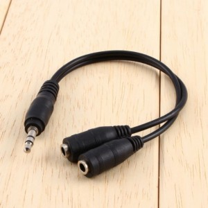 1 PC 3.5mm Aux Cable Audio Stereo Extension Earphone Splitter