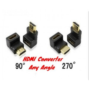 90/270 Degree DIY Converter Extender HDMI To HDMI Adapter Male To Female