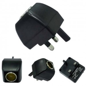 Car Cigarette Lighter Adapter Converter 100V-220V Ac UK Wall Power To 12V Dc