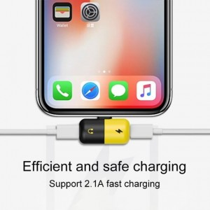 2 in 1 Dual Lightning USB Charging Cable Adapter For iphone X 7 8 Plus Headphone Audio Converter Splitter