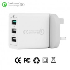 QC3.0 3-Ports USB Quick Charge Wall Charger Travel Adapter Qualcomm 3.0 Quick Charger