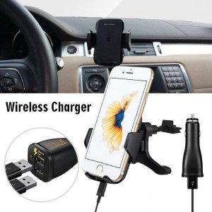 Qi Car Wireless Fast Charger Phone Holder Air Vent Style Charging Pad