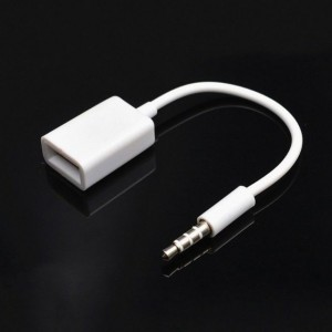 Car AUX 3.5mm Male to Line OTG USB Female AUX Audio Plug Converter Cable Adapter