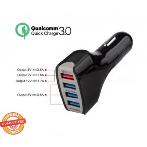 Qualcomm Certified QC3.0 Quick Charge Adaptive 4 Port USB Fast Car Charger