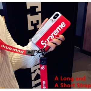 iPhone 6 6s 7 8 Plus iPhone X Case With Strap Lanyard Supreme Cover