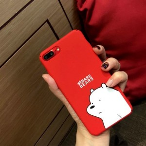iPhone X 6 6s 7 8 Plus Cartoon Case We Bare Bears Soft TPU Cover