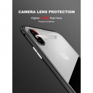 Magnetic Casing iPhone X 8 7 6 6S Plus Case Magnetic Absorption Metal Frame Glass Full Cover