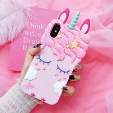 Cute Pink Unicorn Soft Silicone Case - iPhone 6Plus 7/8 Plus iPhone X Cover
