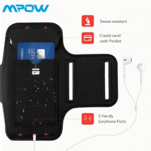 Mpow Running Sport Armband Case with Earphone and Key Holder for iPhone 7/6s/6 Multi purpose