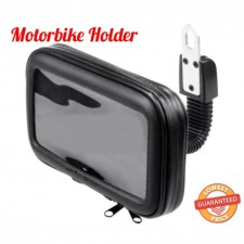 Waterproof Rotation Motorcycle Mobile Phone Handlebar Mount Holder Zipper Bag [ Up to 5.5' ]