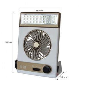 3 In 1 Multi-Function Portable Fan Home LED Table Lamp Outdoor Solar Flashlight