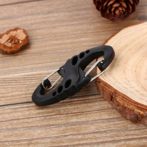 Mini Small Strong Climbing Hook S Type Carabiner Dual Buckle Keychain