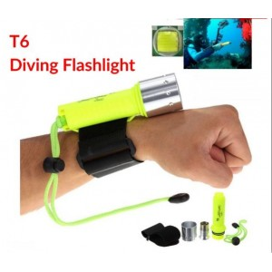 T6 Diving Flashlight 50 Meters CREE XM-L 3000Lm Underwater LED Torch Lamp