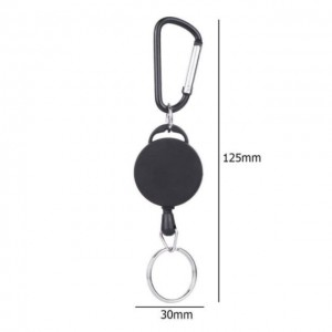 Retractable Keychain Safety Anti-lost Rope Burglar Keyring Keychains Camping Outdoor Picnic Travel