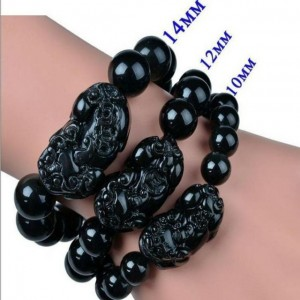 Luck Black Onyx Pixiu Beads Bracelet