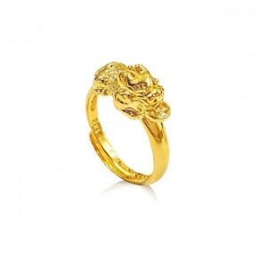Plated Gold Pixiu Ring Jewelry