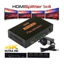 4 Port 4K 3D HDMI Splitter with UK Power Adapter for Projector Monitor 1 in 4out