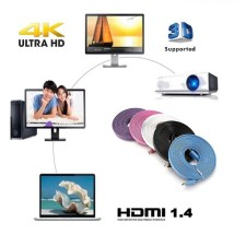 5M Ultra HD 4K High Speed HDMI Flat Cable V1.4 3D Support