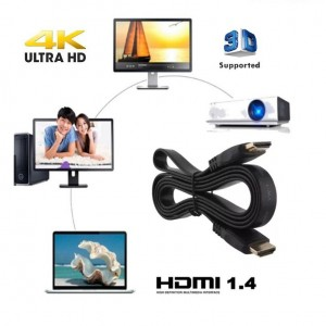 3M Ultra HD 4K High Speed HDMI Flat Cable V1.4 3D Support