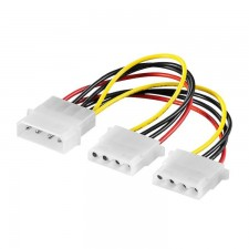 4 Pin IDE Molex Male 1 to 2 Female Y Splitter Power Supply Cable for DVD HDD