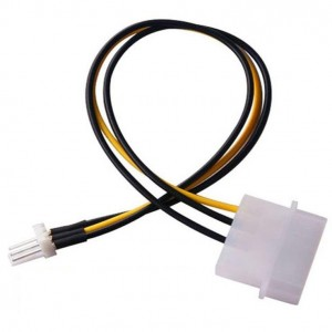 4 Pin IDE Molex Male to 3 pin Male Power Connector Extension Cable Casing Fan
