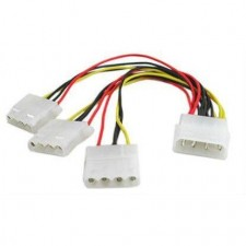 4 Pin IDE Molex Male 1 to 3 Female Y Splitter Power Supply Cable for DVD HDD
