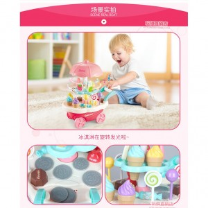 Ice Cream Cart Shop Kitchen Play Set Pretend Play With Light And Music
