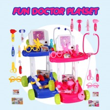 Little Doctor Pretend Play Medical Tools Nurse Doctor Playset Trolley Toys For Boys Girls