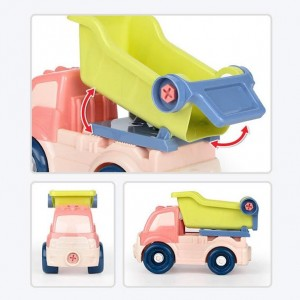 Toddlers Kids DIY Assembly Disassembly Construction Vehicle Toy Truck With Tools Educational