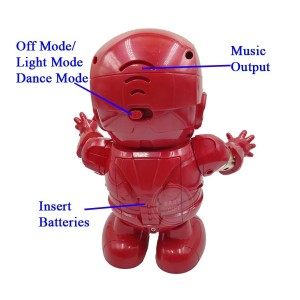 Ironman Kids Toy Dance Hero Robot With LED Music Dance Marvel Avengers