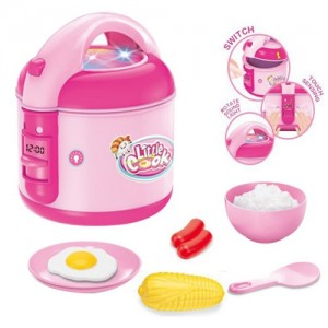 Realistic Role Play Set Kitchen Set LED Melody Electric Rice Cooker Pretend Play Kitchen Toys Appliances Toy
