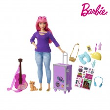 Barbie Daisy And Travel Set With Puppy Luggage And Accessories