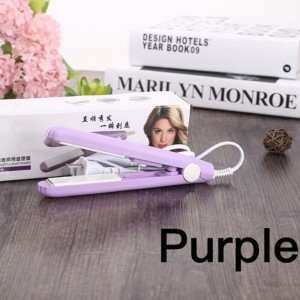 Mini Hair Straightener For Travel Outing Ceramic Tourmaline Plate Flat Iron Heating 2 in 1