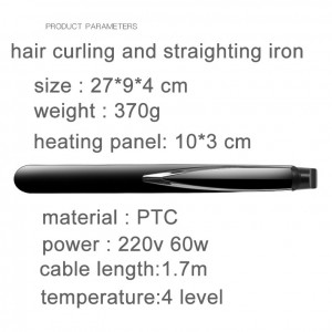 Professional Unisex Anion Hair Curling Iron Hair Curler Hair Straightener Straightening Hair Styling Tool 2 In 1