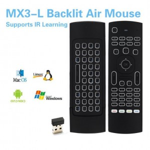 MX3-L Air Mouse Supports IR Learning With Backlit
