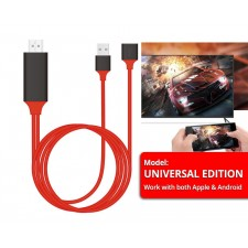 HD1080P HDMI Cable iPhone Android Type-C To HDMI HDTV Adapter Mirror USB Cable