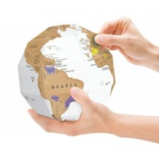 3D Scratch World Map Travel Edition Personalized Colorful Globe Sphere Gift